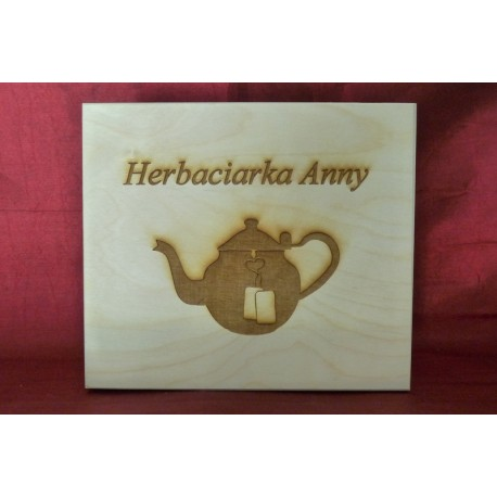 Herbaciarka pudełko na herbatę z grawerem