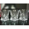 6x Szklanki Kryształowe Bohemia Quadro Whisky + GRAWER