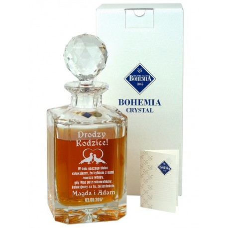 Karafka Kryształowa Bohemia Fiona 800ml z GRAWEREM