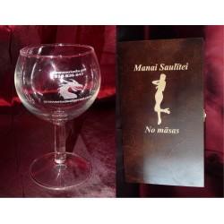 Zestaw: 4 kieliszki do wina i skrzynka
