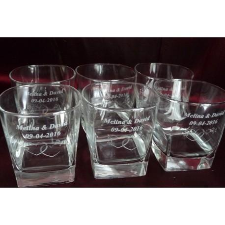 Komplet 6 szklanek do whisky drinków z Twoją dedykacją