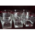 6 x szklanki do whisky z grawerem