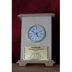 Zegar Biurkowy Drewniany +grawer