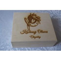 10 x Herbaciarka pudełko na herbatę z grawerem logo